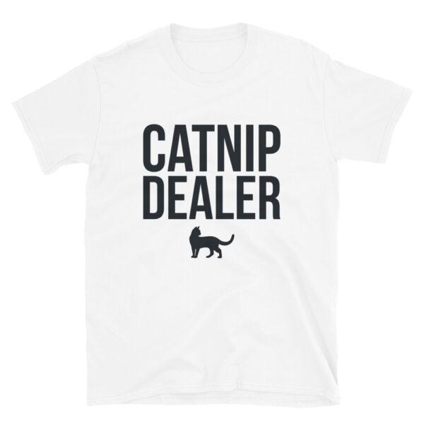 Nine Lives Catnip Dealer (White) Short-Sleeve T-Shirt 1