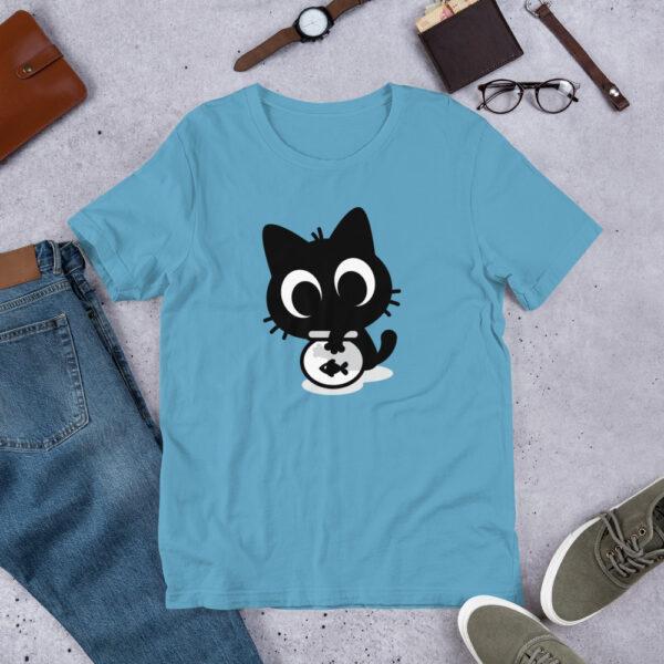 Nine Lives Cat Fish Short-Sleeve T-Shirt 3
