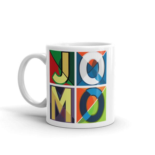 JOMO White glossy mug 1