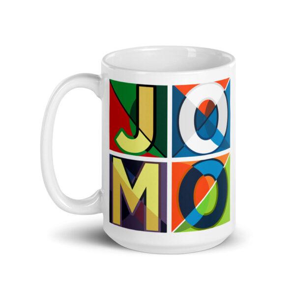 JOMO White glossy mug 2