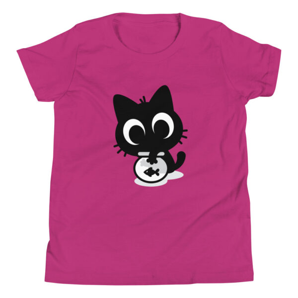 Nine Lives Cat Fish Youth Short Sleeve T-Shirt 2
